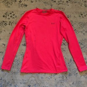 Under Armour Pink Long Sleeve Cold Gear Thermal M